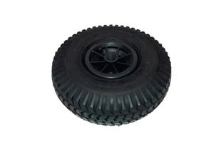 Luftgummihjul Svart 260X85 Ø23mm, 74mm Navlängd