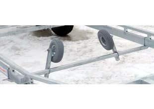 Sidostöd manuell par lufthjul (till befintlig tvärbalk)