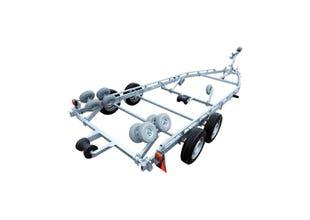 Båtvagn för motorbåtar med V-skrov  5,5-7,2m & 2000kg