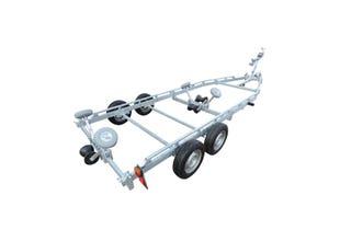 Båtvagn för motorbåtar med V-format skrov  5,5-7,2m & 2000kg